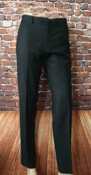 Rich Black Satin Sided Dress Trouser
